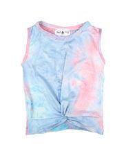 La Galleria - Twist Front Tie Dye Top (7-16)-2668125