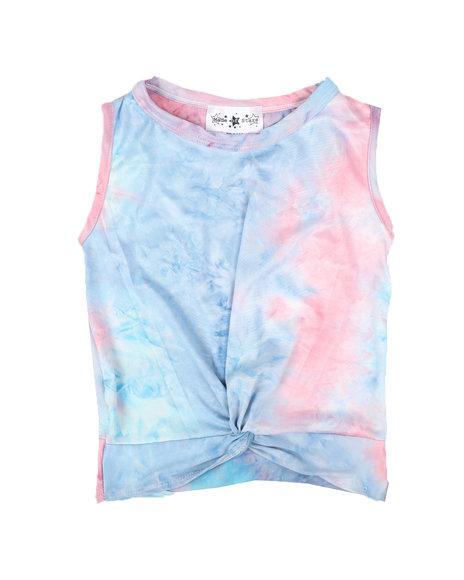 La Galleria - Twist Front Tie Dye Top (7-16)