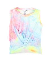 La Galleria - Twist Front Tie Dye Top (7-16)-2668133