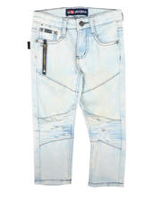 Sizes 4-7x - Kids - Ice Washed Moto Stretch Skinny Jeans (4-7)-2666106