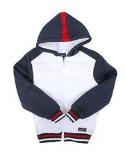 Hoodies - Sherpa Lined Fleece Zip Up Hoodie (8-18)-2666361