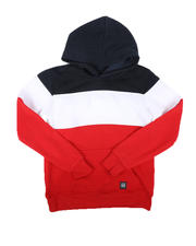 Hoodies - Color Block Fleece Pullover Hoodie (8-18)-2666455