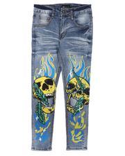Jeans - Skull & Flames Jeans (8-20)-2666690