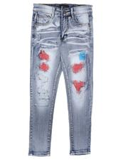 Bottoms - Rip & Repair Colored Backing Jeans (8-20)-2666715