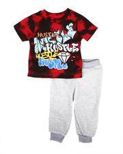 Arcade Styles - 2 Pc Hustle Tie Dye Tee & Jogger Pants Set (Infant)-2669701