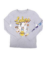 NBA MLB NFL Gear - NBA x Space Jam Lakers-All In Long Sleeve Tee (8-20)-2670699