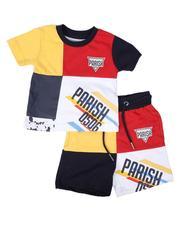 Parish - 2 Pc Color Block Tee & Shorts Set (Infant)-2669722