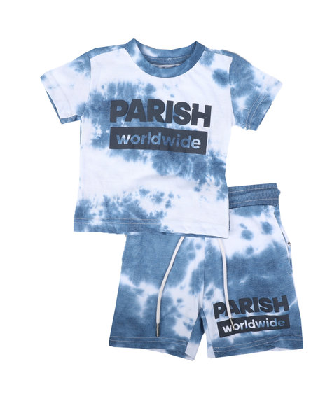 Parish - 2 Pc Tie Dye Tee & Shorts Set (Infant)