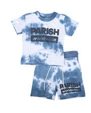 Parish - 2 Pc Tie Dye Tee & Shorts Set (2T-4T)-2669760
