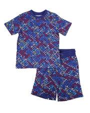 Sets - 2 Pc All Over Print T-Shirt & Shorts Set (8-20)-2670110