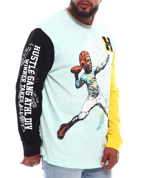 Hustle Gang - Face Mask Long Sleeve Knit Shirt (B&T)