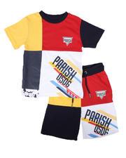Sets - 2 Pc Color Block Tee & Shorts Set (8-20)-2669731