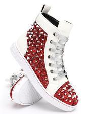 AURELIO GARCIA - Spiked Metallic High Top Sneakers-2668427