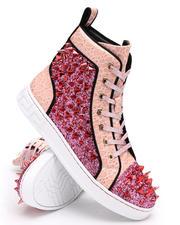 Footwear - Spiked Metallic High Top Sneakers-2668439