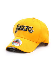 Hats - Los Angeles Lakers Golden Black Stretch Snapback Hat-2670808