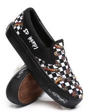 Footwear - Checkered Slip On Sneakers-2669176