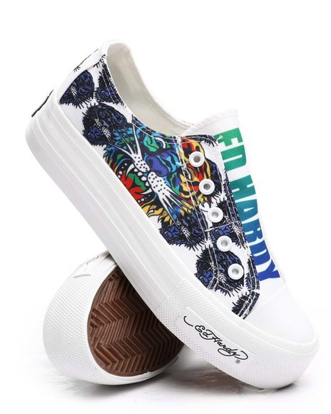 Ed Hardy - Tiger Laceless Sneakers