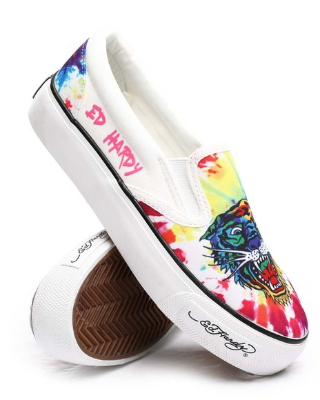 Ed Hardy - Tiger Slip On Sneakers