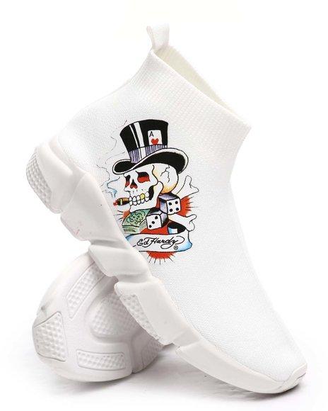 Ed Hardy - Skeleton Sock Sneakers