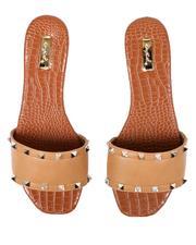 Fashion Lab - Studded Slip On Sandals-2669209