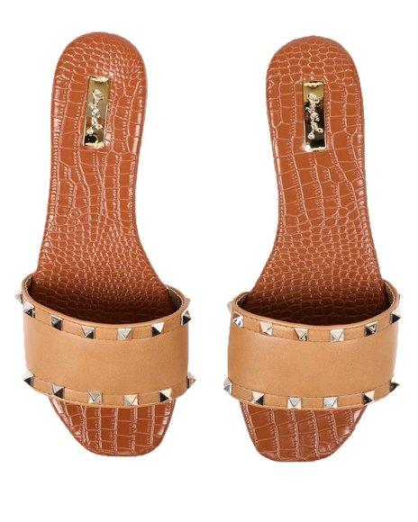 Fashion Lab - Studded Slip On Sandals