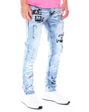 Spring-Summer - skinny ripped jean with pubk verbage-2671630