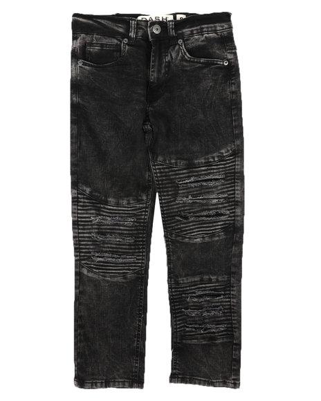 Arcade Styles - Destructed Moto Jeans (8-18)