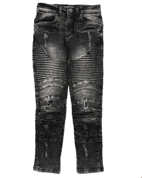 Arcade Styles - Distressed Moto Jeans (8-18)