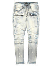 Arcade Styles - Distressed Moto Jeans (8-20)-2669808