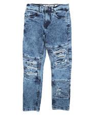 Jeans - Destructed Moto Jeans (8-18)-2670740