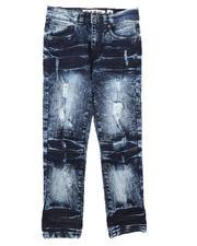 Jeans - Rip & Repair Stretch Jeans (8-18)-2670754