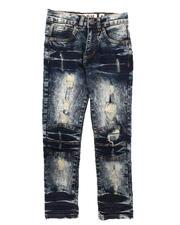 Jeans - Rip & Repair Stretch Jeans (8-18)-2670761