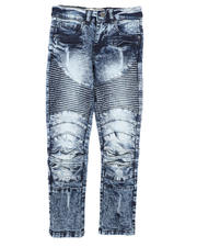 Jeans - Distressed Moto Jeans (8-18)-2670775