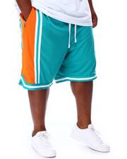 Shorts - Colorblock Mesh Basketball Shorts (B&T)-2671123