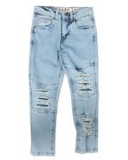 Jeans - Destructed Moto Jeans (8-18)-2670733