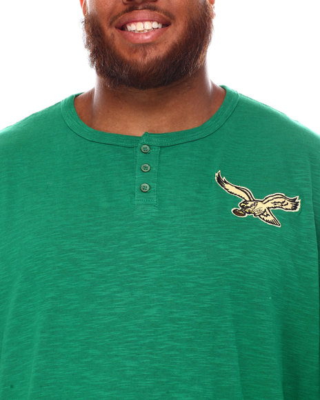 Mitchell & Ness - Eagles Slub Knit Long Sleeve T-Shirt (B&T)