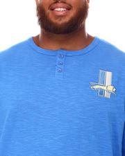 Mitchell & Ness - Lions Slub Knit Long Sleeve T-Shirt (B&T)-2670838