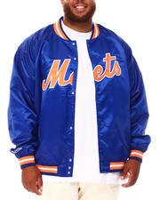 Mitchell & Ness - Mets Lightweight Satin Jacket (B&T)-2670898