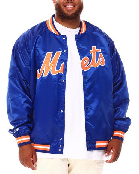 Mitchell & Ness - Mets Lightweight Satin Jacket (B&T)