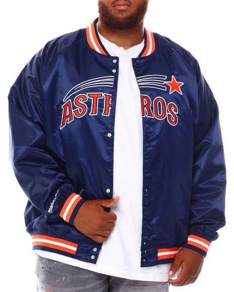 Mitchell & Ness - Astros Lightweight Satin Jacket (B&T)