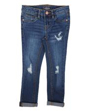Bottoms - Destructed Convertible Skinny Jeans (4-6X)-2670573