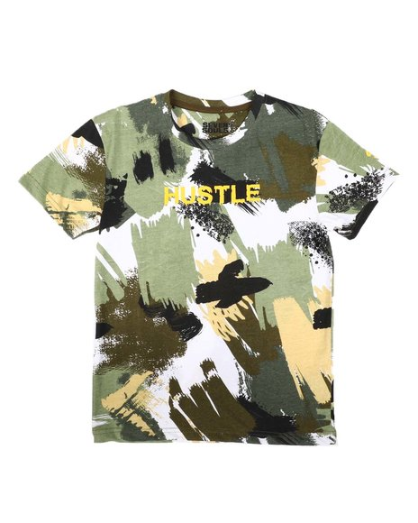 SASCO - Abstract All Over Print Tee W/ Verbiage (8-18)