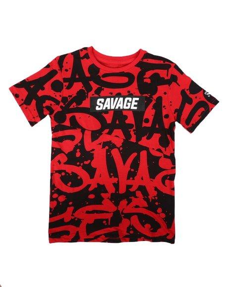 RGSTR - Savage All Over Verbiage Print Tee (8-18)