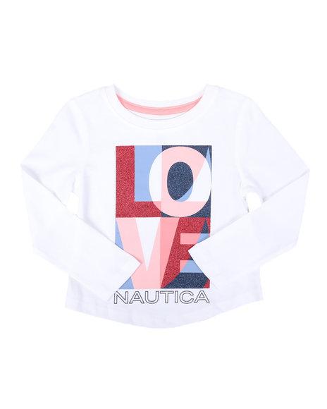 Nautica - Love Long Sleeve Tee (2T-4T)
