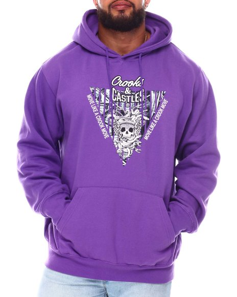 Crooks & Castles - Skull Reverse Logo Hoodie (B&T)