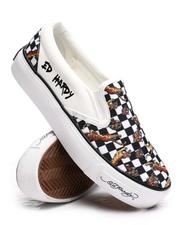 Fashion Lab - Checkered Slip On Sneakers-2672203