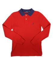 Polo Ralph Lauren - Long Sleeve Solid Polo Shirt (8-20)-2670496