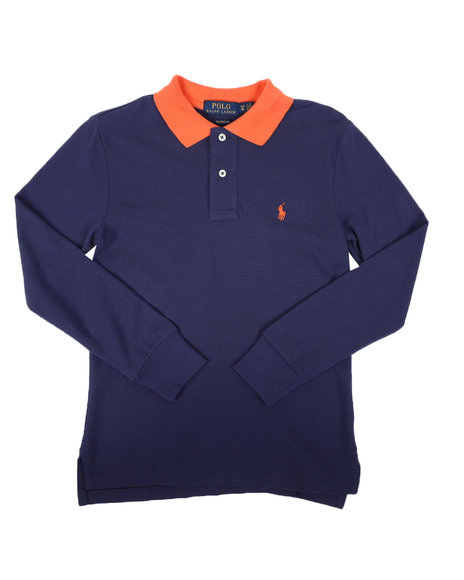 Polo Ralph Lauren - Long Sleeve Solid Polo Shirt (8-20)