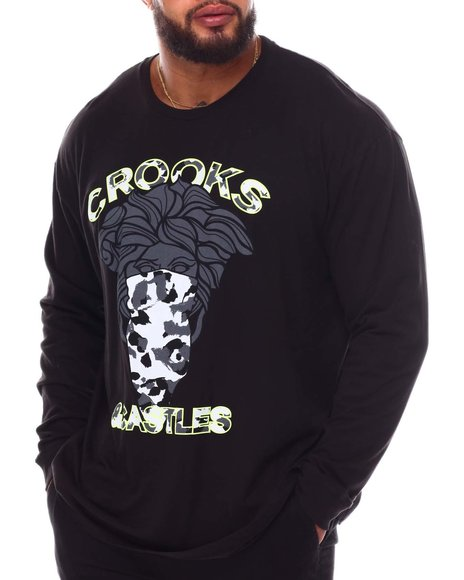 Crooks & Castles - Camo Bandito Long Sleeve T-Shirt (B&T)
