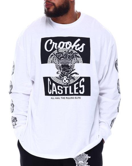 Crooks & Castles - Klepto Medusa Long Sleeve T-Shirt (B&T)